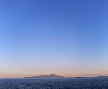 夕暮れの大島