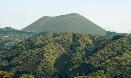 大室山と伊豆高原