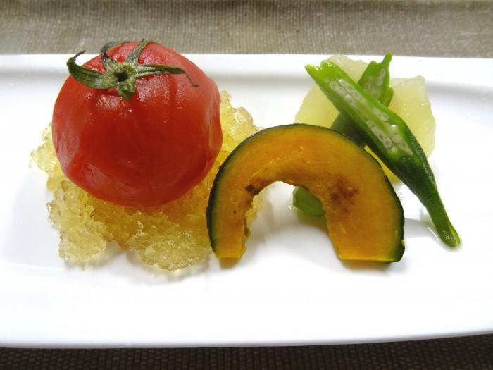 夏野菜の炊き合わせ 和風ジュレを添えて(修正)