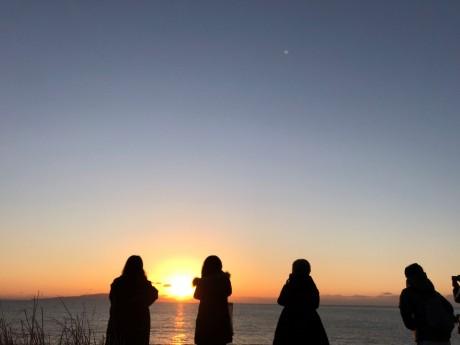 大川海岸の日の出